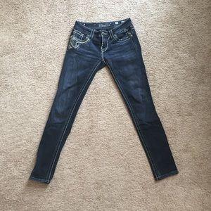 Miss Me size 26 skinny jeans medium wash